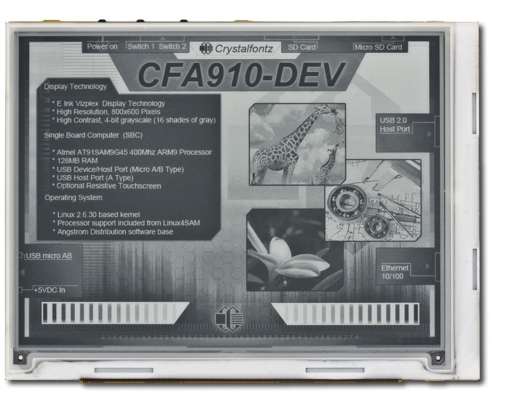 New E-ink development platform now available E-ink e-Reading Hardware