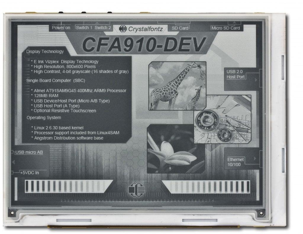 New E-ink development platform now available E-ink e-Reading Hardware