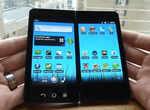 Check out the dual screen phone with no name e-Reading Hardware