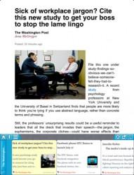 Washington Post launched a News Aggregator - Trove e-Reading Software