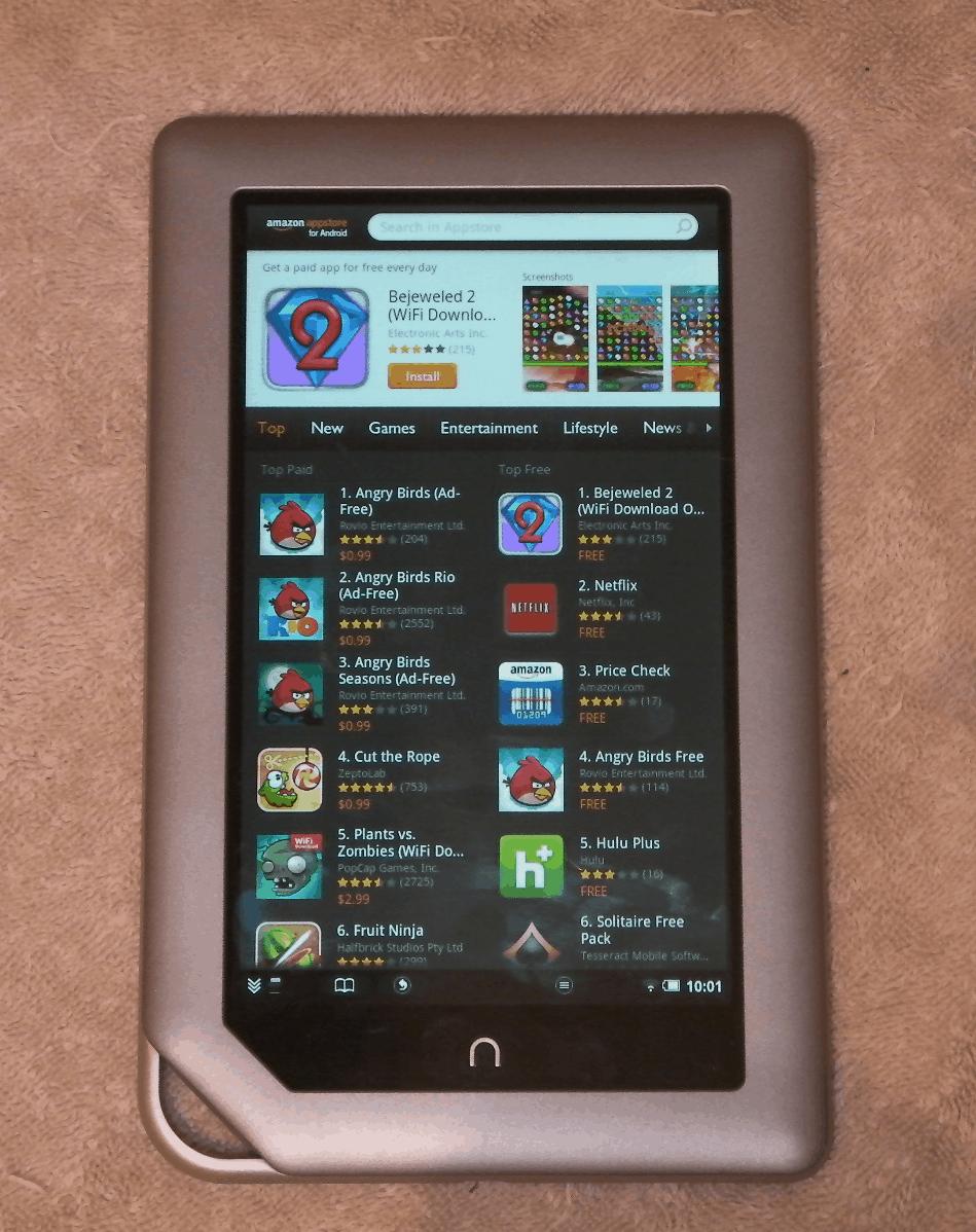 Nook Tablet Now Runs Kindle, Aldiko, & More - No Hack ...
