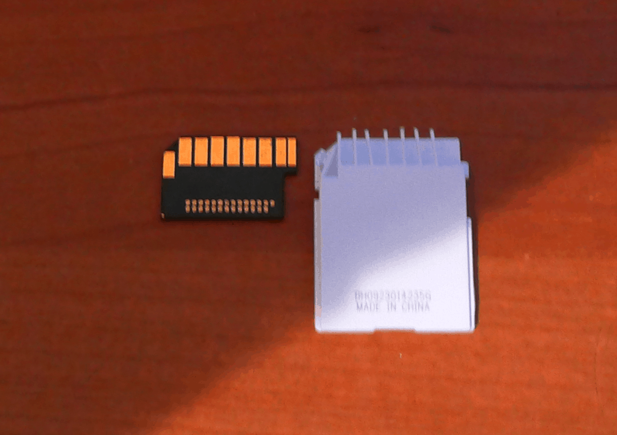 I broke part of the SD Card that came with my Tevo Tarantula