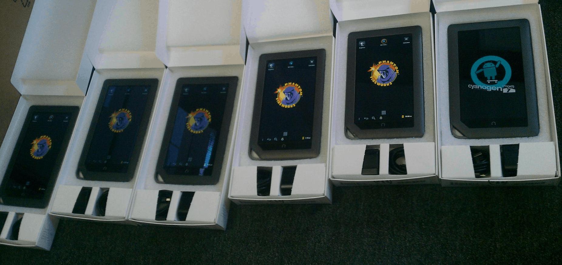 showroom tablet with vidoe