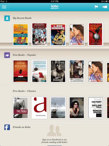 Kobo iOS App Updated e-Reading Software