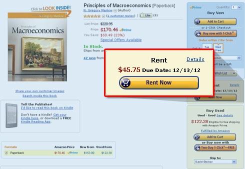 Amazon Now Renting Paper Textbooks Amazon