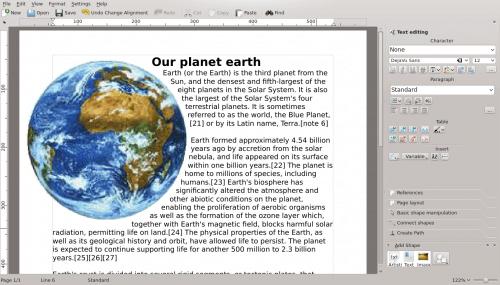 Calligra Office Suite Adds eBook Creation App ebook tools