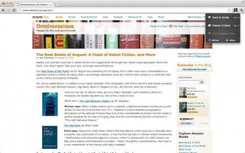 Amazon Launches Redundant Chrome Plugin - Send to Kindle Kindle Web Browser