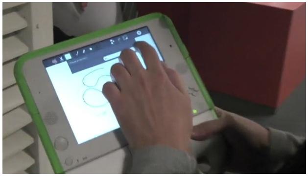 XO Laptop w\Touchscreen Caught on Film e-Reading Hardware Education