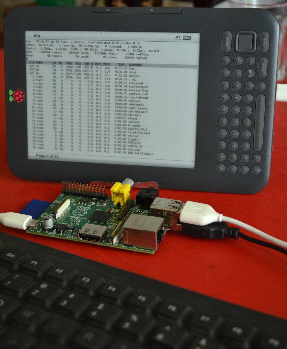 KindleBerry Pi - Mobile E-ink Computing at its Finest e-Reading Hardware