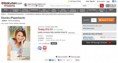 Rakuten Updates Buy.com Website - eBook Section Now a Hilarious Joke eBookstore