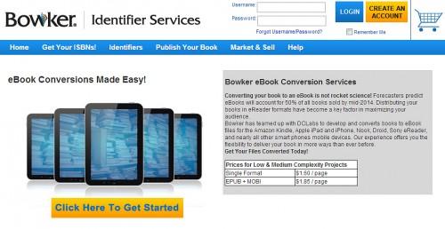 Bowker Launches New eBook Conversion Service Uncategorized
