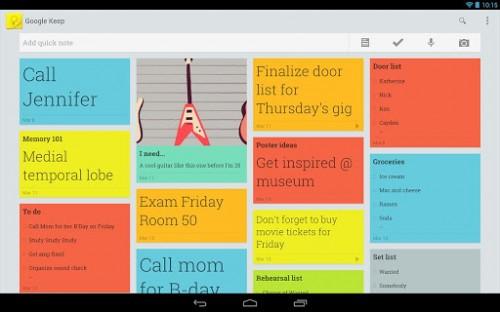 Google Me-Too-ism Strikes Again - Google Keep e-Reading Software Google