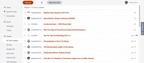 FlowReader Combines RSS Feeds With Twitter, Facebook Feeds Google Reader Alternatives News Reader
