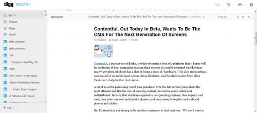 Digg Reader Now in Beta - Verdict: It Isn't Ready News Reader