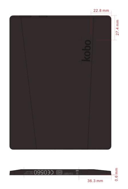 new Kobo fcc NOIKBN514 6 inch