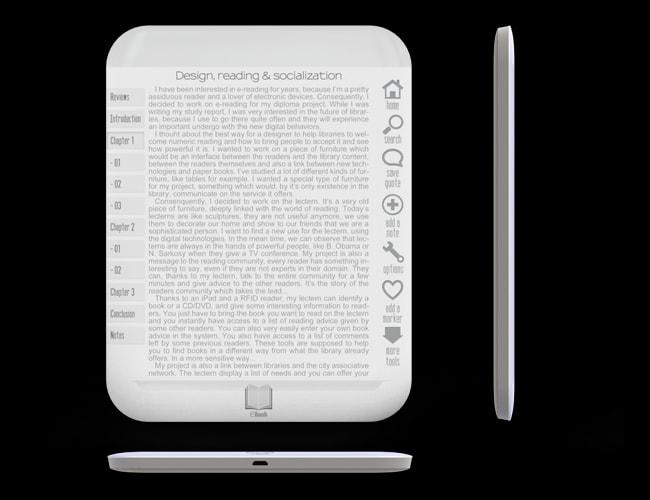 new ereader concept shows off edge to edge screen