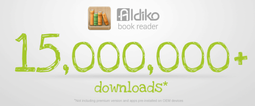 aldiko 15 million downloads banner