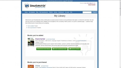 smashwords my library dropbox