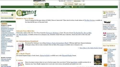 amazon ebookstore 2001