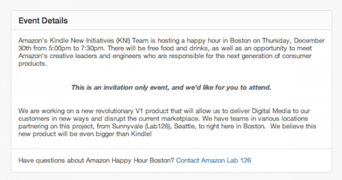 Lab126 is in the Middle of a Kindle Hiring Spree in Boston Amazon