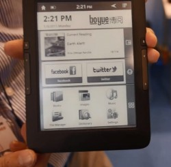 Boeye Shows Off Android E-ink Tablets in Hong Kong (video) e-Reading Hardware