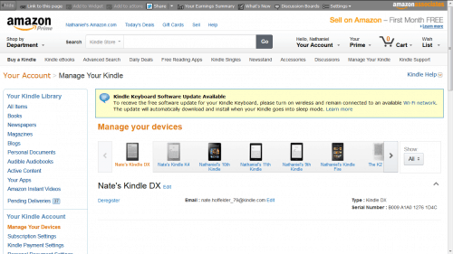 Amazon is Testing a New Manage Your Kindle Page Amazon Kindle