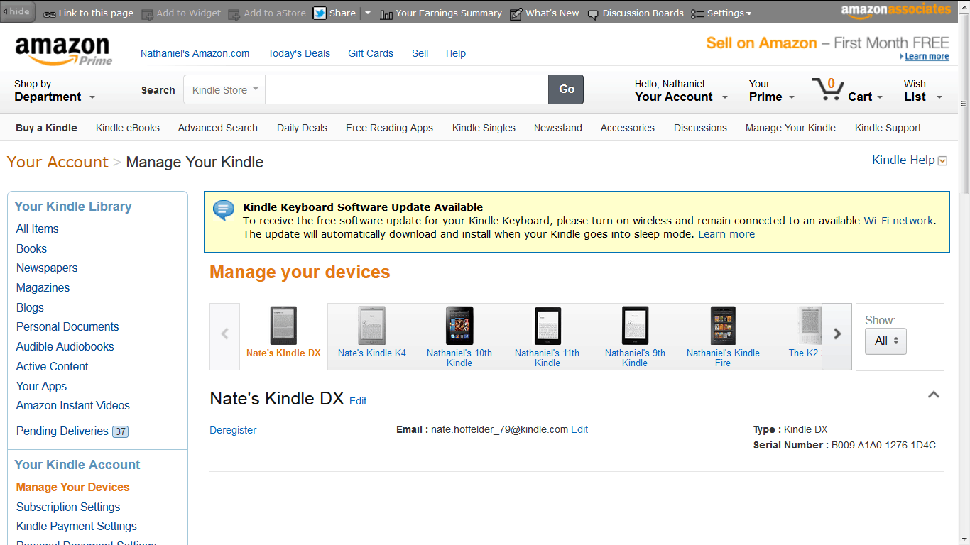 kindle ebook go back policy