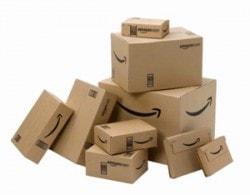 amazon delivery box pile