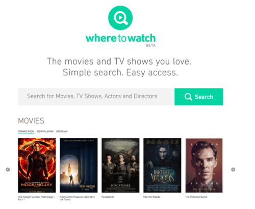 MPAA's WhereToWatch is a Search Engine for TV, Movies Uncategorized