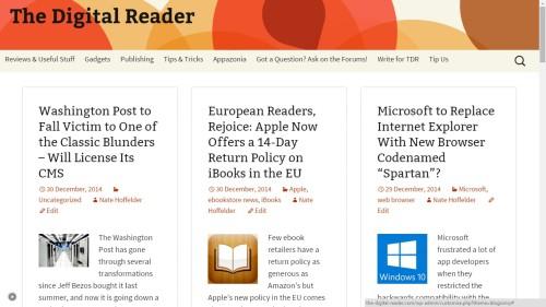 the digital reader blogsonry theme