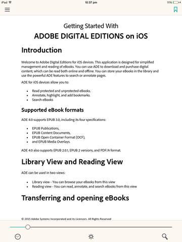 adobe digital editions ade reader software