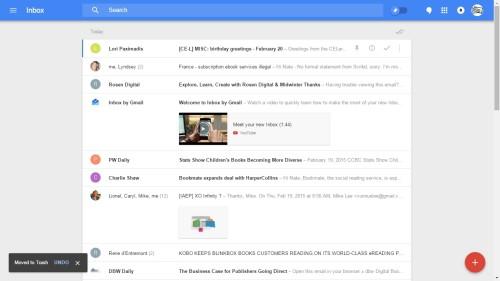 Inbox by Google chrome