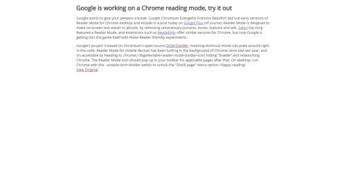chrome distraction-free