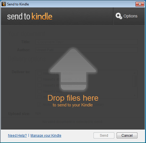 How to Upload eBooks and Documents to Your Kindle Account