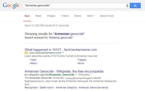 goole armenia genocide