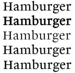 monotype font example