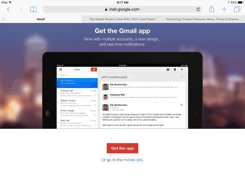 gmail nag screen