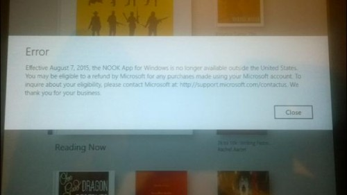 Barnes & Noble Drops Support for Nook Windows 8 App in the UK, Leaving Customers Stranded Barnes & Noble eBookstore