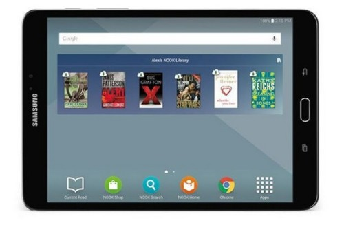 "B&N Launches a ReBranded Samsung Galaxy Tab S2 Nook 8"" Tablet, Now Selling it for $400 Barnes & Noble e-Reading Hardware"
