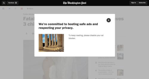 Washington Post is Blocking Ad Blockers Advertising Web Publishing