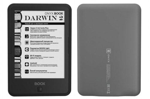 Onyx Boox Darwin 2 Android eReader - 300 PPI Screen, $197 e-Reading Hardware