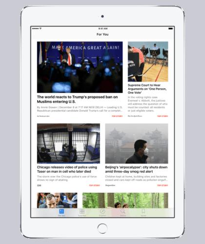 apple news ipad