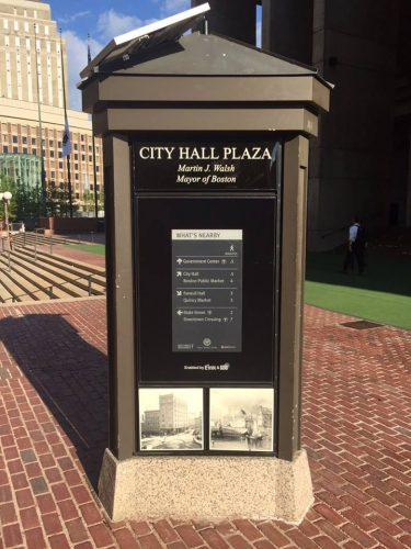 boston city hall plaza e-ink sign