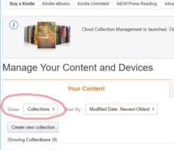 Kindle Cloud Collection Management Feature Added to Amazon.com Kindle (platform)