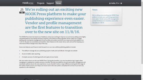 B&N to Merge Nook Press Print, eBook Platforms on 8 November Barnes & Noble Self-Pub
