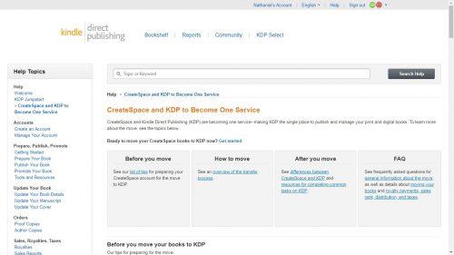 Amazon is Merging Createspace Into KDP Print Kindle (platform) POD